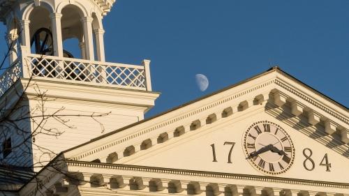 Moon over Dartmouth Hall
