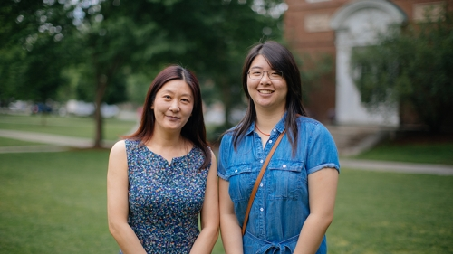 Cecelia Zhang, left, and her daughter Jenny Zhang