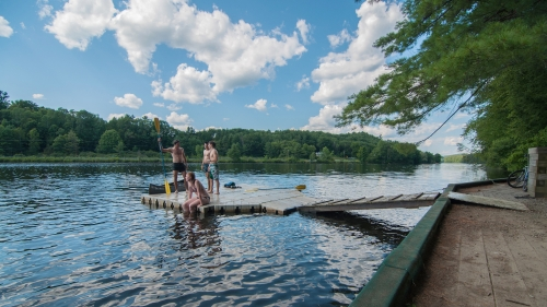 Students enjoy canoeing on the Connecticut River
