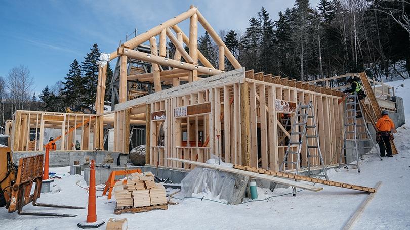 Moosilauke Ravine Lounge under construction