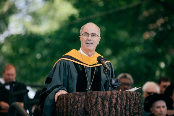 President Hanlon delivers valedictory to the graduates